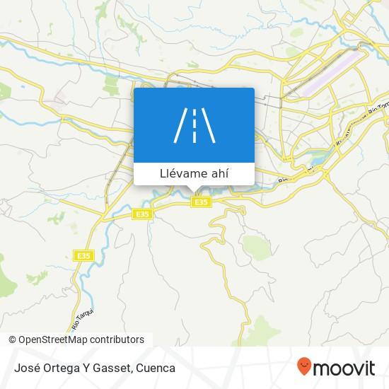 Mapa de José Ortega Y Gasset