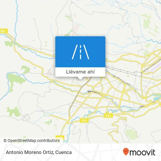Mapa de Antonio Moreno Ortiz
