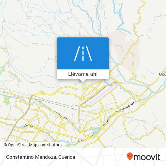 Mapa de Constantino Mendoza