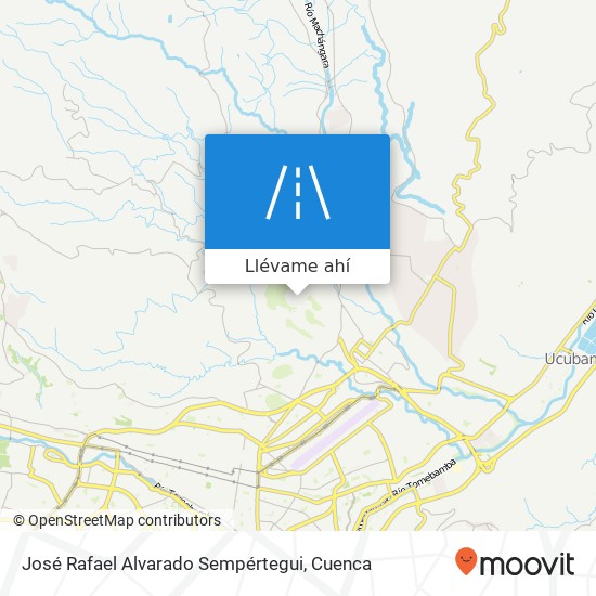 Mapa de José Rafael Alvarado Sempértegui