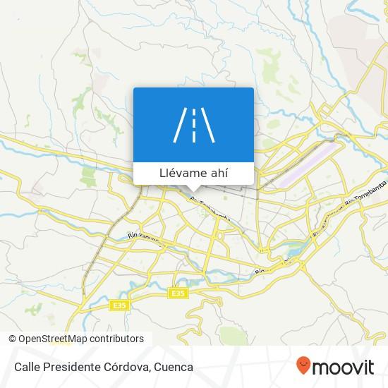 Mapa de Calle Presidente Córdova