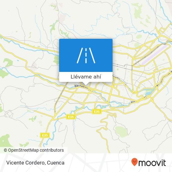 Mapa de Vicente Cordero