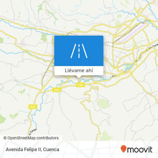 Mapa de Avenida Felipe II