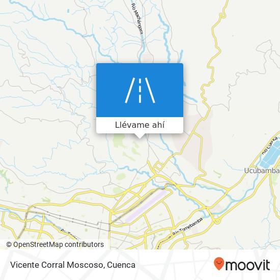 Mapa de Vicente Corral Moscoso