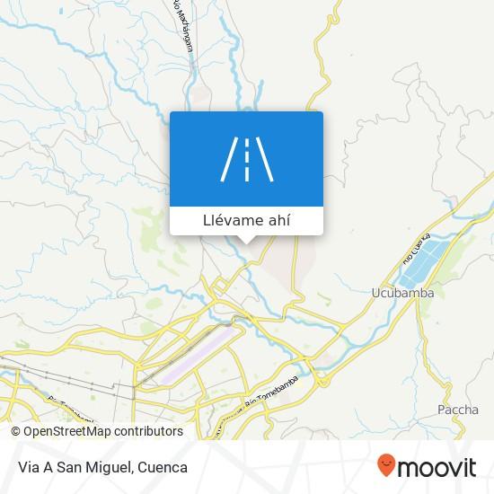 Mapa de Via A San Miguel