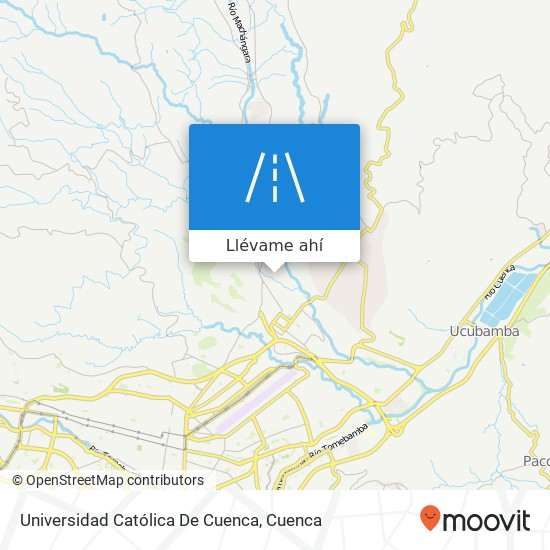 Mapa de Universidad Católica De Cuenca