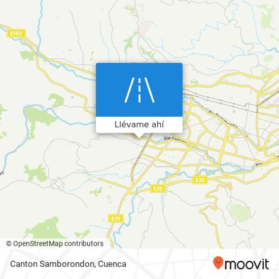 Mapa de Canton Samborondon