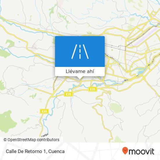 Mapa de Calle De Retorno 1