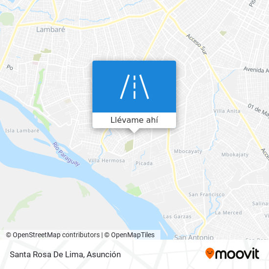 Mapa de Santa Rosa De Lima