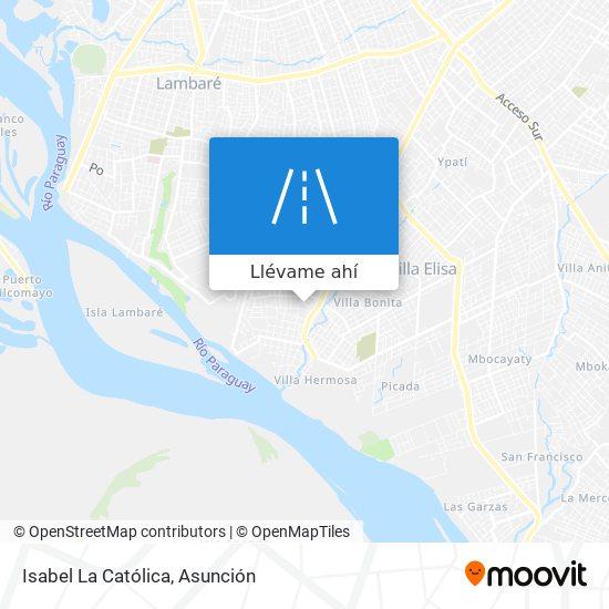 Mapa de Isabel La Católica