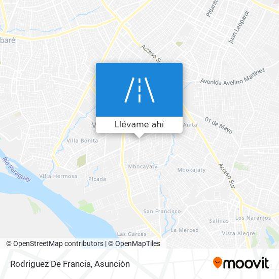 Mapa de Rodriguez De Francia