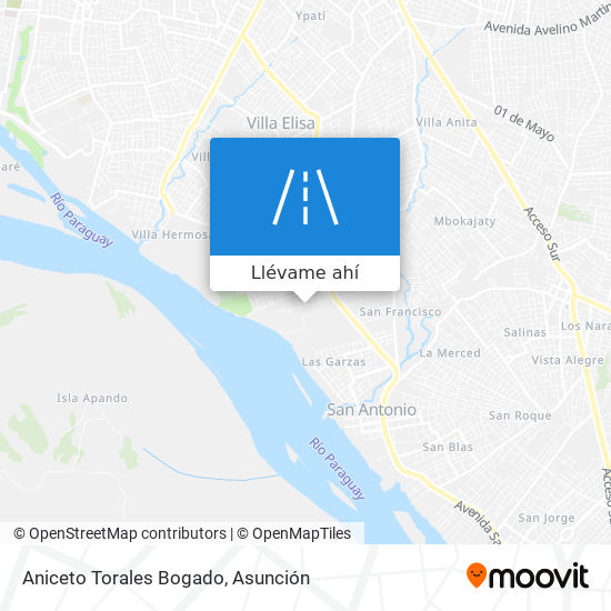 Mapa de Aniceto Torales Bogado