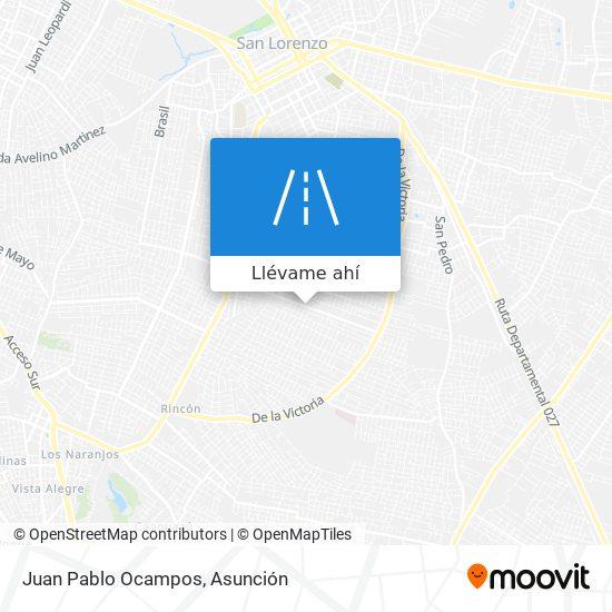 Mapa de Juan Pablo Ocampos