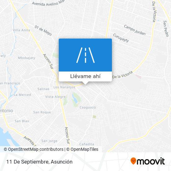 Mapa de 11 De Septiembre