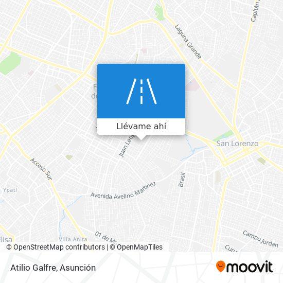Mapa de Atilio Galfre