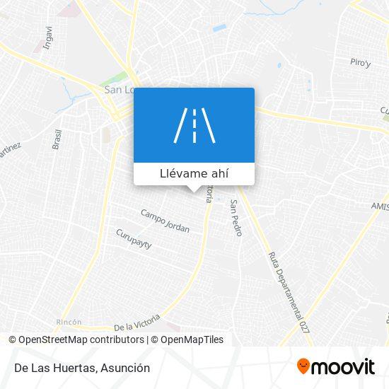 Mapa de De Las Huertas