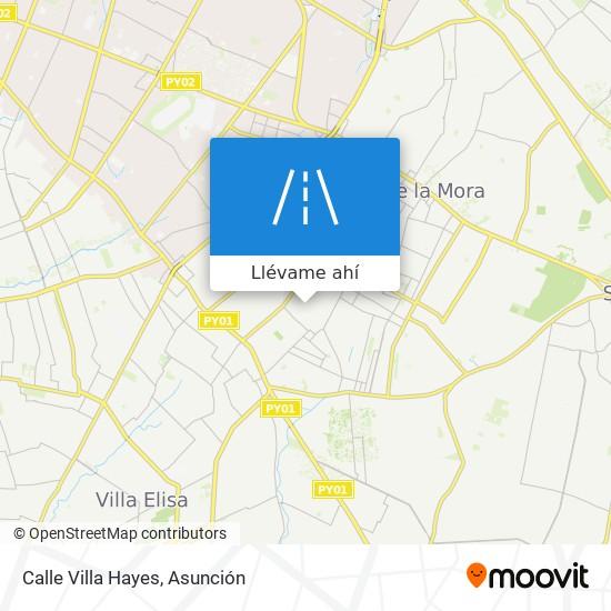 Mapa de Calle Villa Hayes