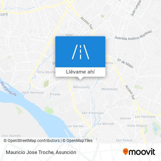 Mapa de Mauricio Jose Troche