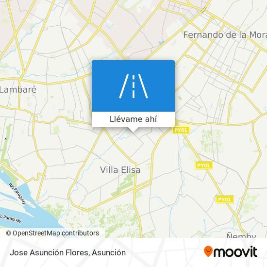 Mapa de Jose Asunción Flores