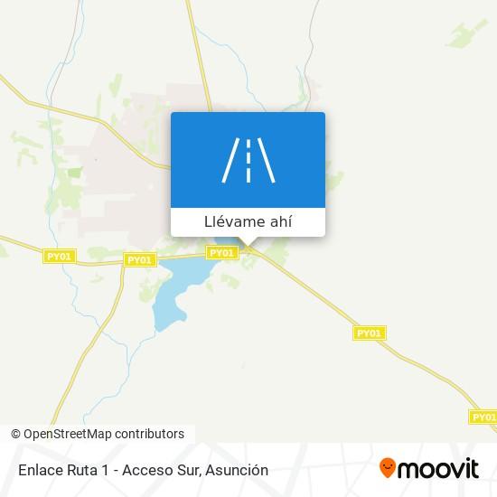 Mapa de Enlace Ruta 1 - Acceso Sur