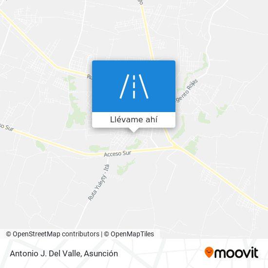 Mapa de Antonio J. Del Valle