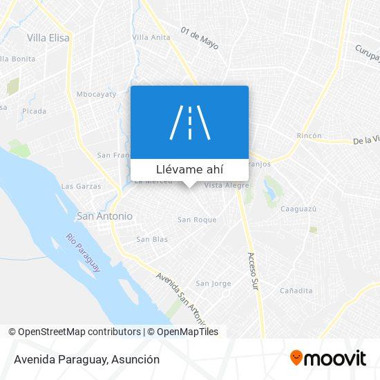 Mapa de Avenida Paraguay