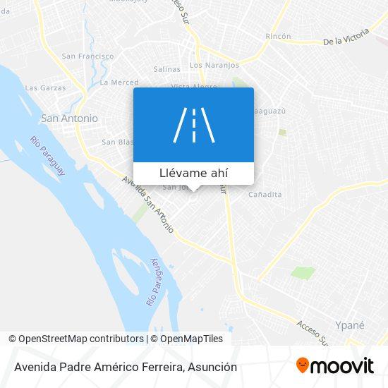 Mapa de Avenida Padre Américo Ferreira