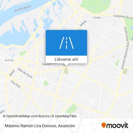 Mapa de Máximo Ramón Lira Donoso
