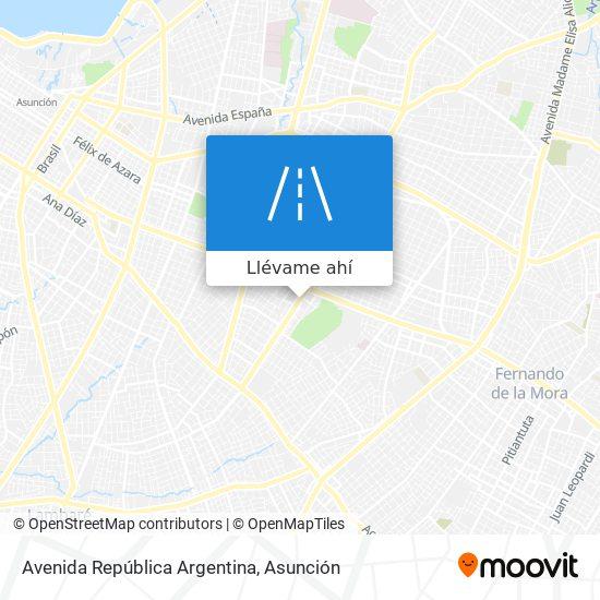 Mapa de Avenida República Argentina