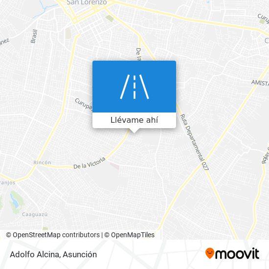 Mapa de Adolfo Alcina