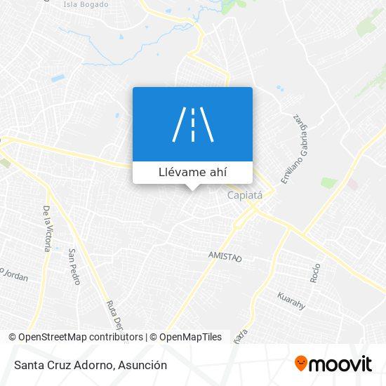 Mapa de Santa Cruz Adorno