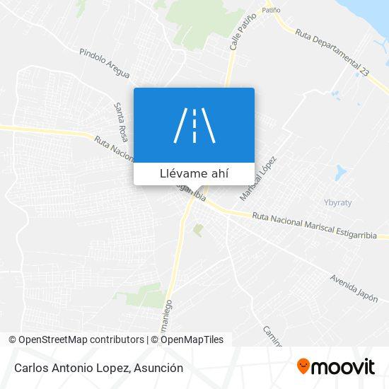 Mapa de Carlos Antonio Lopez