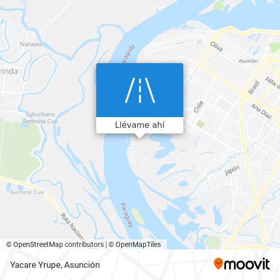 Mapa de Yacare Yrupe