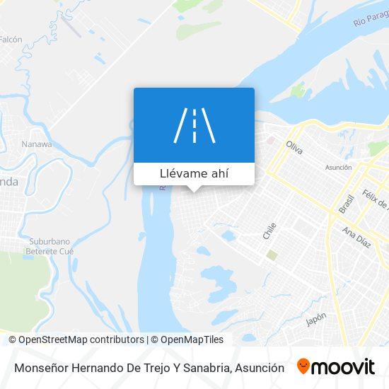 Mapa de Monseñor Hernando De Trejo Y Sanabria