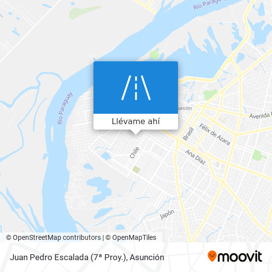 Mapa de Juan Pedro Escalada (7ª Proy.)
