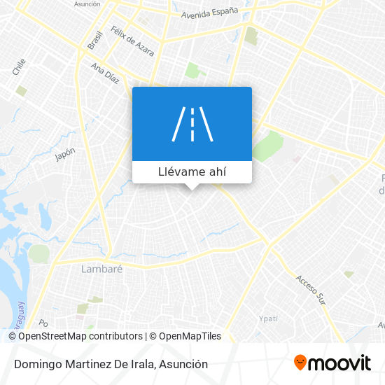 Mapa de Domingo Martinez De Irala