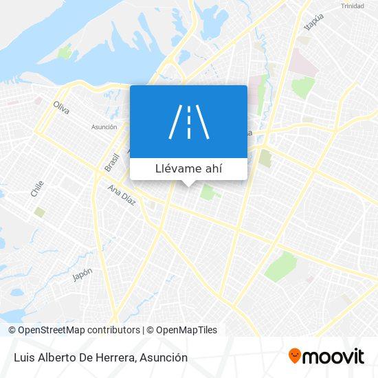 Mapa de Luis Alberto De Herrera