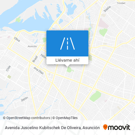 Mapa de Avenida Juscelino Kubitschek De Oliveira