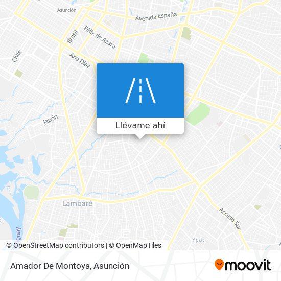 Mapa de Amador De Montoya