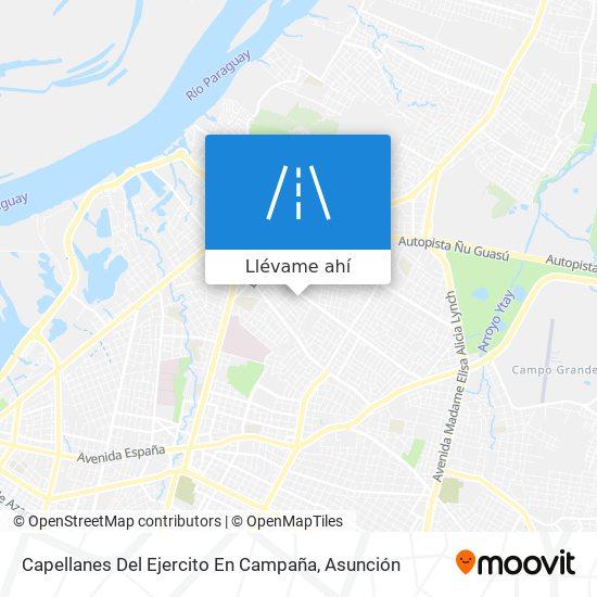 Mapa de Capellanes Del Ejercito En Campaña