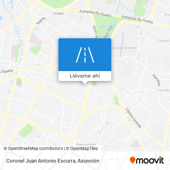 Mapa de Coronel Juan Antonio Escurra