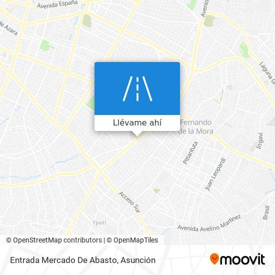 Mapa de Entrada Mercado De Abasto