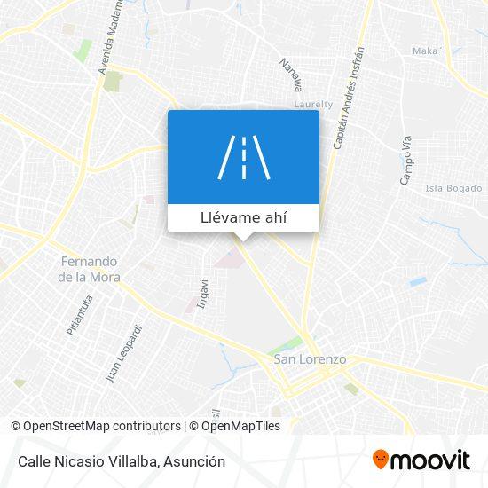 Mapa de Calle Nicasio Villalba