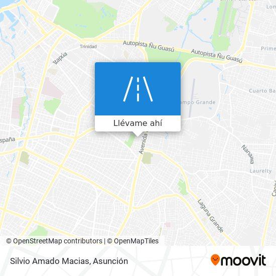 Mapa de Silvio Amado Macias