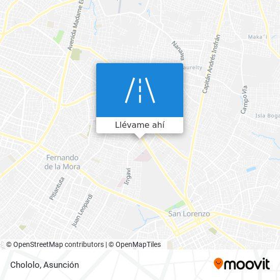 Mapa de Chololo