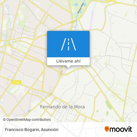 Mapa de Francisco Bogarin