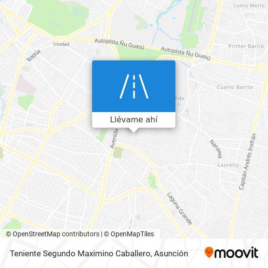 Mapa de Teniente Segundo Maximino Caballero