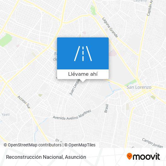 Mapa de Reconstrucción Nacional