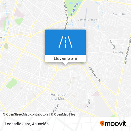Mapa de Leocadio Jara