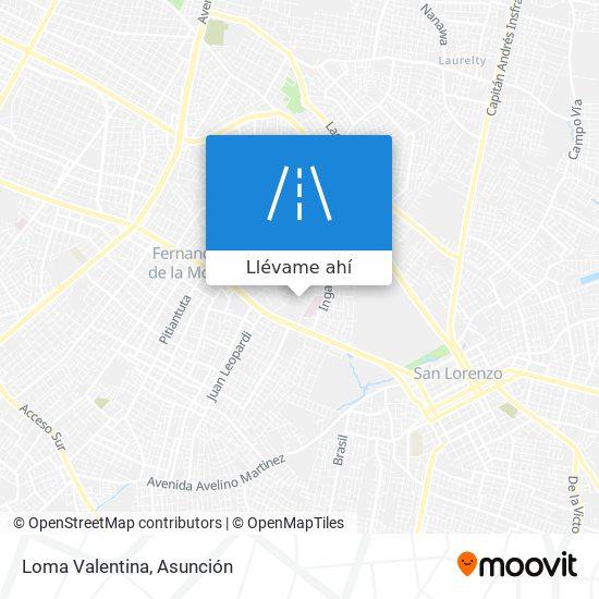 Mapa de Loma Valentina
